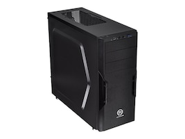 Thermaltake Chassis, Versa H22 Mid Tower ATX Micro ATX 3x3.5 Bays 3x5.25 Bays 7xSlots Window, Black, CA-1B3-00M1NN-00, 16976446, Cases - Systems/Servers