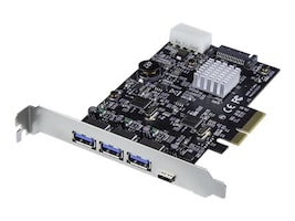 StarTech.com 4-Port USB 3.1 PCIe Card with 2x Dedicated Channels, PEXUS313AC2V, 35740623, Controller Cards & I/O Boards