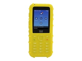 Zcover Dock-in-Case Rugged HealthCare Grade Back Open Silicone Case, Keypad for Cisco 8821 IP Phone, Yellow, CI821PBY, 33842554, Carrying Cases - Phones/PDAs