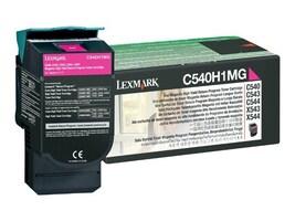 Lexmark Magenta High Yield Return Program Toner Cartridge for C540, C543 & C544 Printers & X543 & X544 MFPs, C540H1MG, 9163922, Toner and Imaging Components