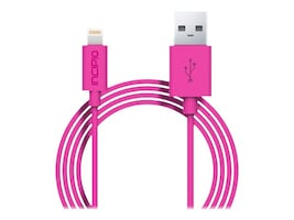 Incipio Lightning to USB Type A M M Charge Sync Cable, Pink, 1m, PW-186, 33020227, Cables