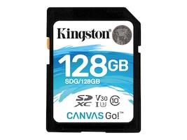 Kingston 128GB Canvas Go SDXC UHS-I U3 Flash Memory Card, Class 10, SDG/128GB, 35190570, Memory - Flash