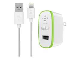 Belkin Home Charger for iPad, USB Devices, 10 Watt 2.1 Amp, F8J052TT04-WHT, 15622064, Battery Chargers