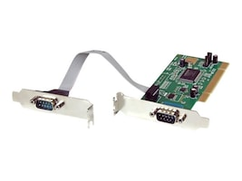 StarTech.com 2-Port Low Profile Serial PCI I O Card Adapter 16550 UART, Plug & Play, PCI2S550_LP, 220144, Remote Access Hardware