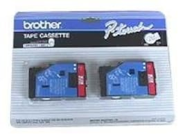 Brother 1 2 Red on Clear Tape (2-pack), TC11, 41047657, Paper, Labels & Other Print Media