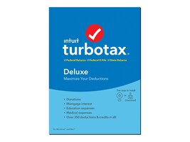 Intuit Turbotax Deluxe + State 2019 DVD, 607312, 37871344, Software - Tax & Legal