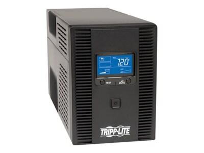 Tripp Lite Smart LCD Tower 1300VA 720W UPS AVR 120V USB RJ-45, SMART1300LCDT, 15196860, Battery Backup/UPS