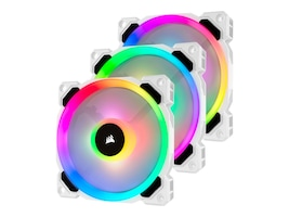 Corsair LL120 RGB 120mm Dual Light Loop White RGB LED PWM Fan (3-pack), CO-9050092-WW, 36970738, Cooling Systems/Fans