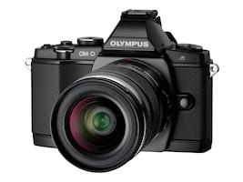 Olympus OM-D E-M5 Micro Four Thirds Digital Camera with 14-42mm Lens, Black, V204041BU000, 13819912, Cameras - Digital