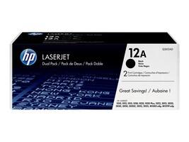 HP 12A (Q2612D) 2-pack Black Original LaserJet Toner Cartridges, Q2612D, 12416214, Toner and Imaging Components - OEM