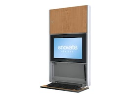 Enovate 550 Wall Station with eSensor System, Fine Oak, E550S4-N4L-01FO-0, 15731957, Computer Carts - Medical