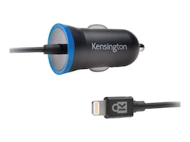 Kensington PowerBolt 2.4 Car Charger w  Lightning Connector, K38028WW, 31064226, Battery Chargers