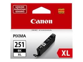 Canon Black CLI-251BK XL Ink Tank, 6448B001, 15139099, Ink Cartridges & Ink Refill Kits - OEM