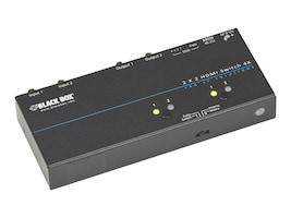 Black Box 4K HDMI Matrix Switch, 2 x 2, VSW-HDMI2X2-4K, 31721302, Switch Boxes - AV