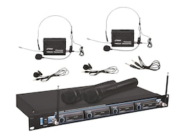 Pyle 4 Mic VHF Wireless System, PDWM4300, 12691380, Microphones & Accessories