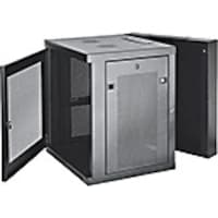Scratch & Dent Tripp Lite SmartRack 12U UPS-Depth Wall-Mount Rack Enclosure Cabinet, Hinged Back, Black, SRW12USDP, 35188630, Racks & Cabinets