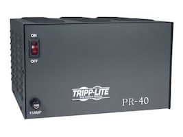 Tripp Lite 40-Amp DC Power Supply 120VAC Input to 13.8VDC Output, PR40, 6395381, AC Power Adapters (external)