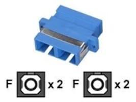 Black Box Fibre Optic Coupling SC-SC Rectangular Mounting, Multimode, Duplex, Bronze Sleeve, Plastic Flange, FOT118, 8616416, Cable Accessories