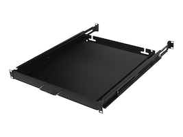 CyberPower Carbon Rack Shelf 1U x 19.6 Sliding Keyboard Shelf, Black, CRA50004, 33221192, Rack Mount Accessories