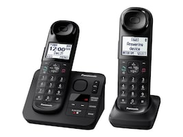 Panasonic Expandable Cordless Phone Comfort Grip Answering System - 2 Handset, KX-TGL432B, 35769451, Telephones - Consumer
