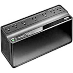 APC Back-UPS 600VA 330W 120V, 5-15P Right-angle Input Plug, (7) 5-15R Outlets, BE600M1, 36365280, Battery Backup/UPS