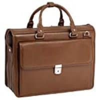 Paladin 15.6 Gresham Leather Litigator Laptop Briefcase, Pebble Grain Calfskin Leather, Brown, 15974, 32689543, Carrying Cases - Notebook