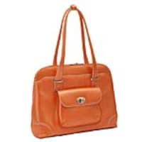 Paladin Avon 15.4 Leather Ladies Laptop Briefcase Tote, Top Grain Leather, Orange, 96650, 32689658, Carrying Cases - Notebook