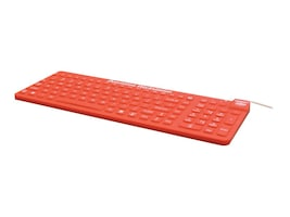 Man & Machine ReallyCool Waterproof Silicone Keyboard, Red, ECOOL/MAG/R5-LT, 17047825, Keyboards & Keypads
