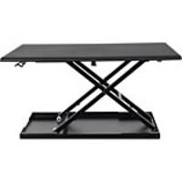 Luxor Level Up 32 Pneumatic Adjustable Desktop Desk, LVLUP32-BK, 32839290, Furniture - Miscellaneous