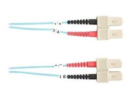 Black Box 10 GbE Fiber Patch Cable, SC-SC, Multimode, 1m, FO10G-001M-SCSC, 13631602, Cables