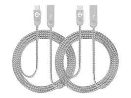 Siig Zinc Alloy USB-C to USB Type A Charging & Sync Braided Cable, 1m, 2-Pack, CB-US0M11-S1, 34989865, Cables