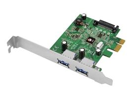 Siig USB 3.1 2-Port PCIe Host Adapter, JU-P20B12-S1, 26548621, Host Bus Adapters (HBAs)