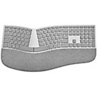 Scratch & Dent Microsoft Surface Ergonomic Keyboard, Bluetooth, Gray, 3SQ-00008, 34305081, Keyboards & Keypads