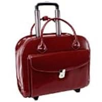 Paladin Granville 15.4 Leather Wheeled Ladies Laptop Briefcase, Red, 96146A, 33644751, Carrying Cases - Notebook