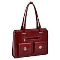 Paladin Verona 15.4 Leather Checkpoint-Friendly Ladies Laptop Briefcase, Red, 96626, 33644873, Carrying Cases - Notebook