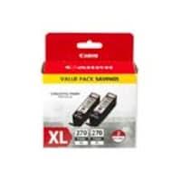 Canon PGI-270 XL Pigment Black Twin Ink Pack, 0319C005, 33704557, Ink Cartridges & Ink Refill Kits - OEM