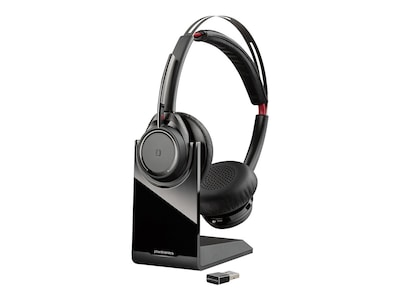 Plantronics Voyager Focus UC B825-M Wireless Binaural Headset - Microsoft, 202652-02, 37698537, Headsets (w/ microphone)