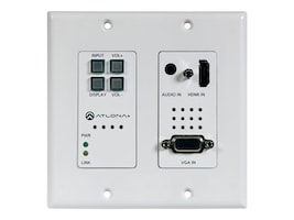 Atlona Two-Input Wall Plate Switcher for HDMI, VGA Sources w  Ethernet-Enabled HDBaseT Output, AT-HDVS-200-TX-WP, 32712029, Video Extenders & Splitters