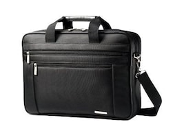 Stephen Gould Classic Two Gusset Briefcase, Fits 17 Screen Laptop, Top-loading, Black, 43269-1041, 12580022, Carrying Cases - Notebook