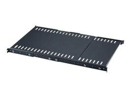 Intellinet 1U 19 Adjustable Depth Fixed Shelf, Steel, Black, 714389, 35154261, Rack Mount Accessories