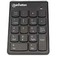 Manhattan Full Size 18-Key Numeric Wireless Keypad w  USB Micro Receiver, Black, 178846, 34296698, Keyboards & Keypads