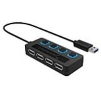 Sabrent 4-Port USB 2.0 Hub w  Individual Power Switches, HB-UMLS, 16049191, USB & Firewire Hubs