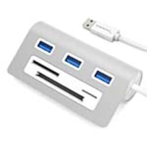 Sabrent 3-Port USB 3.0 Hub w  Multi-in-1 Card Reader, 12 Cable, Silver Aluminum, HB-MACR, 30815121, USB & Firewire Hubs