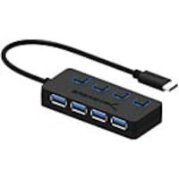 Sabrent USB-C to 4-Port USB 3.0 Hub w  Individual Power Switches & LEDs, HB-UMC4, 34088055, USB & Firewire Hubs