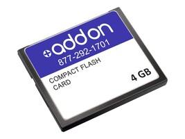 AddOn Juniper Compatible 4GB Compact Flash, CTP-CF-4G-S-AO, 34215157, Memory - Flash