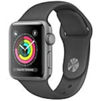 Apple Watch Series 3 GPS + Cellular, 42mm Space Gray Aluminum Case, Black Sport Band, MTGT2LL/A, 36141876, Wearable Technology - Apple