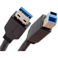 Accell USB 3.0 Type A to USB Type B M M SuperSpeed Cable, Black, 3ft, A111B-003B-2, 36234378, Cables