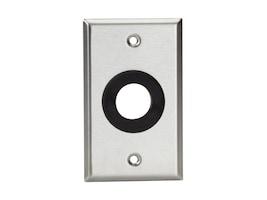 Black Box A V Stainless Wallplate, Single-Gang, Rubber Grommet, 1 Hole, WP840, 32995735, Premise Wiring Equipment