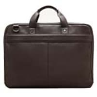 Avalon 15 Kenneth Cole Reaction Brown Single-Compartment Flapover Computer Bag, Brown, 51731, 34964107, Carrying Cases - Notebook