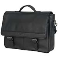 Avalon 15 Kenneth Cole Reaction Single-Compartment Flap-Er Flapover Computer Business Portfolio Bag, Black, 51735, 34964115, Carrying Cases - Notebook